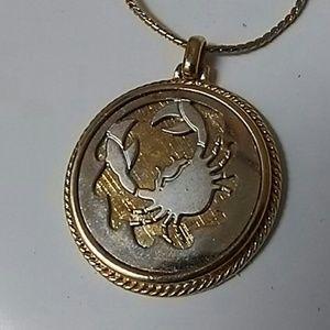 Cancer Crab Zodiac Sign Fashion Necklace